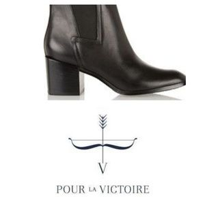 POUR La VICTOIRE Leather 100% Pointed Booties